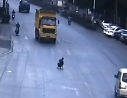 Suicidal man stands in the road until one driver gives him his wish