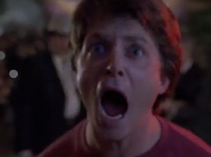 MARTY MCFLY SCREAMING