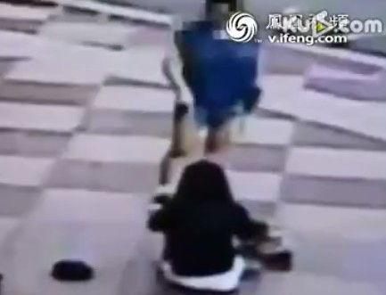 Daughter tortured by mom in street after caught skipping classes