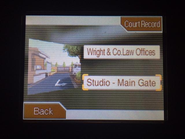 逆転裁判 北米版 スタジオ調査二回目開始1