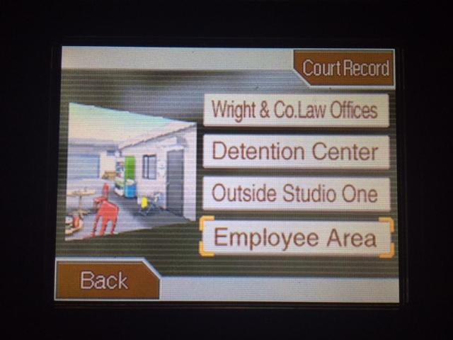 逆転裁判 北米版 スタジオ調査二回目開始9