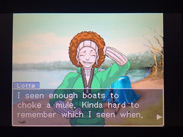 逆転裁判 北米版 湖のそばでロッタは何をしてるの?11