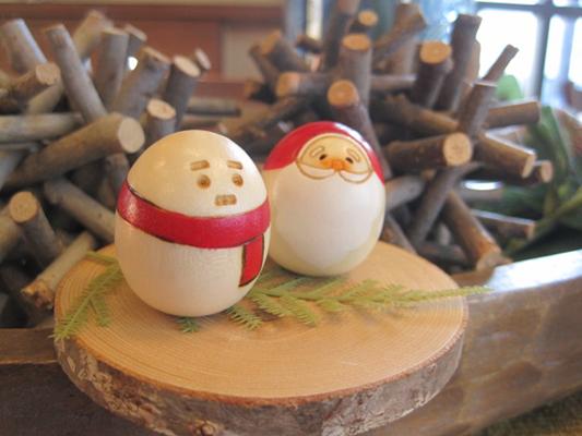 クリスマス豆こけし