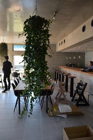 喫茶店改造計画ハンギング