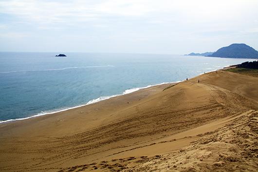 砂丘から海!