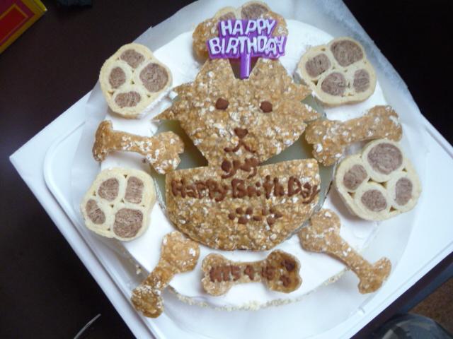 徳島の友達に作って頂いた誕生日ケーキ