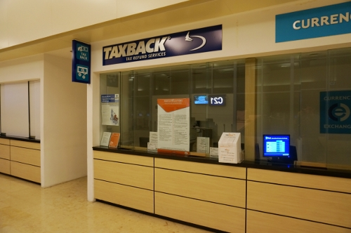 Taxback airport office