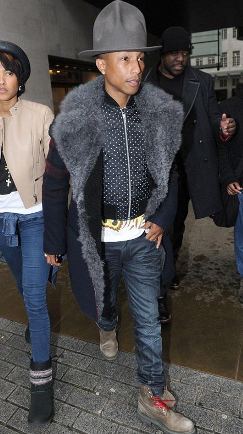 ファレル・ウィリアムス(Pharrell Williams):ヴィヴィアン・ウエストウッド(Vivienne Westwood)/ランバン(LANVIN)/ビリオネアボーイズクラブ クラブビーライン×ティンバーランド(BILLIONAIRE BOYS CLUB BEE