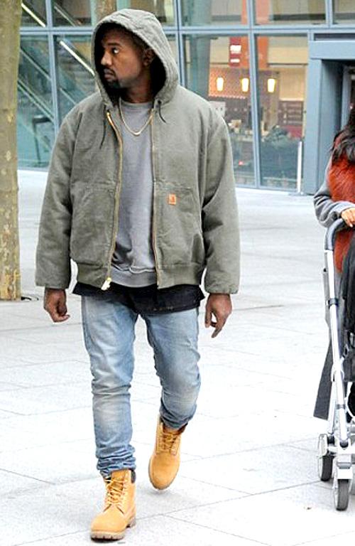 カニエ・ウェスト(Kanye West):カーハート(Carhartt)ハイダーアッカーマン(Haider Ackermann)ティンバーランド(Timberland)