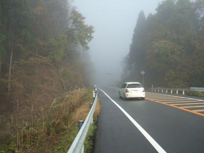濃霧の162号線