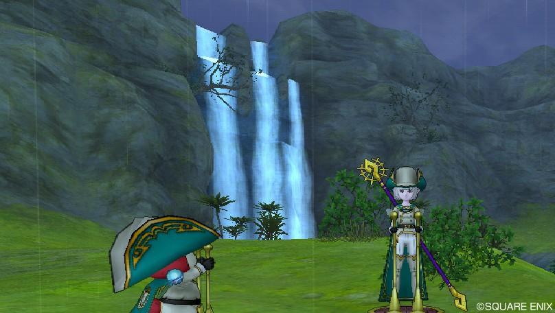 ガートラント領の滝