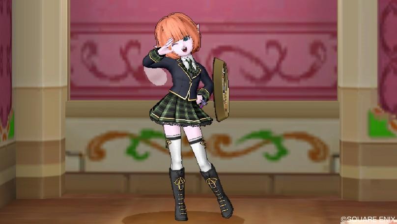 女子のスクール制服