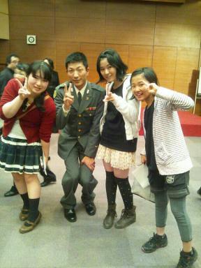梅野里奈ちゃん、自衛隊山崎さん、松井瀬奈、望寧姉妹