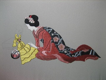 日本刺繍 同じ系統の色