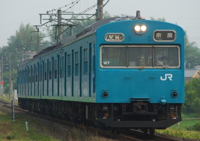 奈良線103系 青