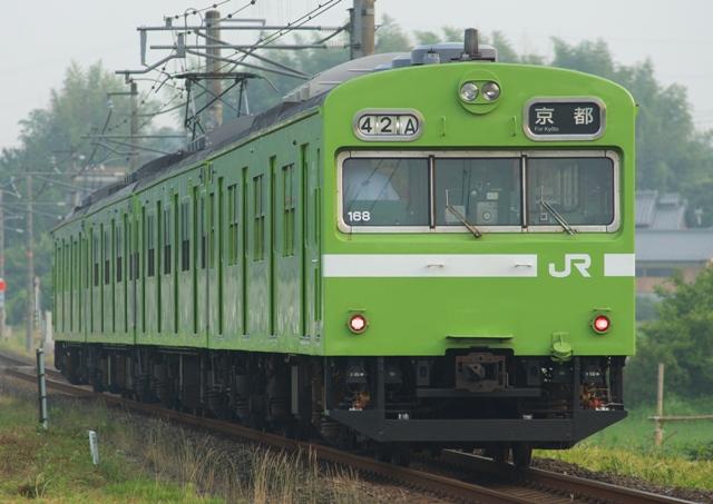 奈良線103系 緑