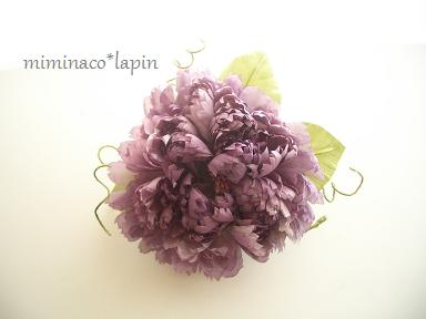 コサージュピンク紫