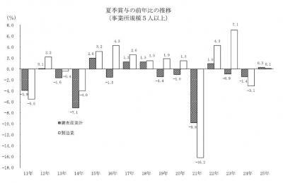 20131108毎月勤労統計調査H25年度夏季賞与の結果