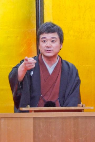 泉笑会会長の柱祭蝶
