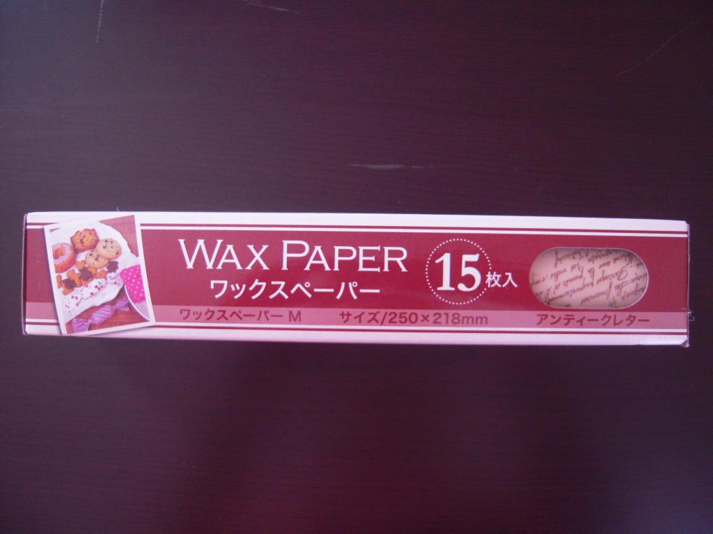 キャンドゥ☆ アンティークレター柄WAXペーパー☆1