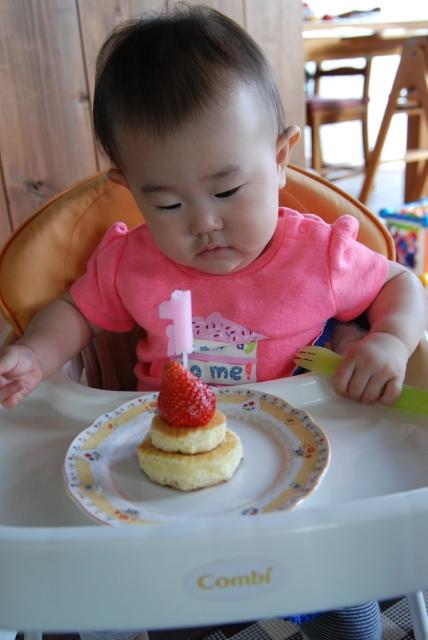 ホットケーキでお祝い
