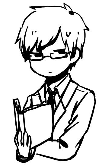 黒髪メガネ