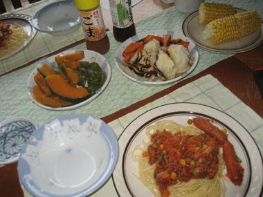 私夕飯、スパゲティ