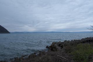 猪苗代湖を眺めて終了