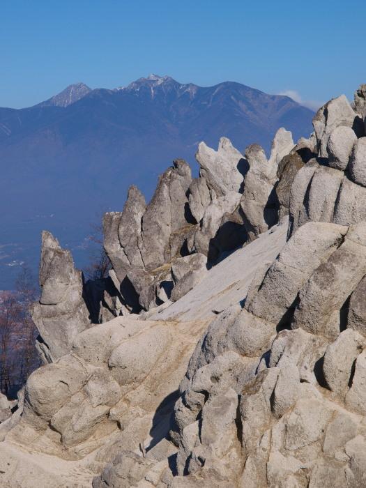 八ヶ岳を望む。