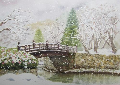 八幡堀最後の雪景色
