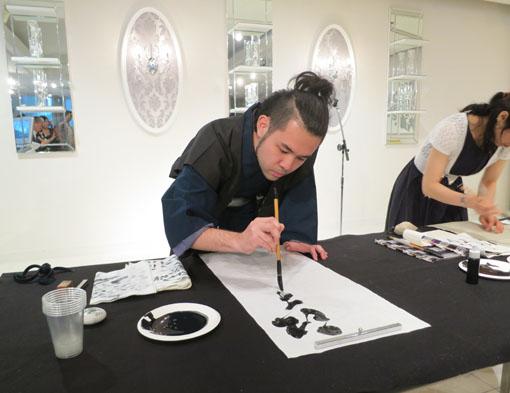 洛陽中国書法水墨画院展 祝賀会3