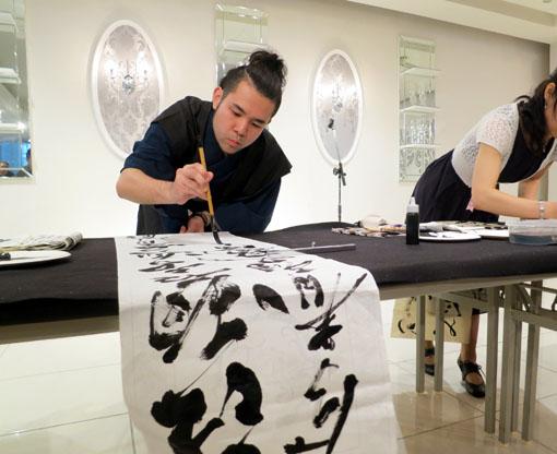 洛陽中国書法水墨画院展 祝賀会5