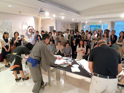 洛陽中国書法水墨画院展 祝賀会6