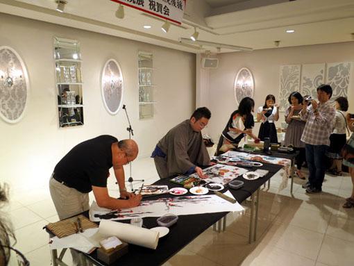 洛陽中国書法水墨画院展 祝賀会7