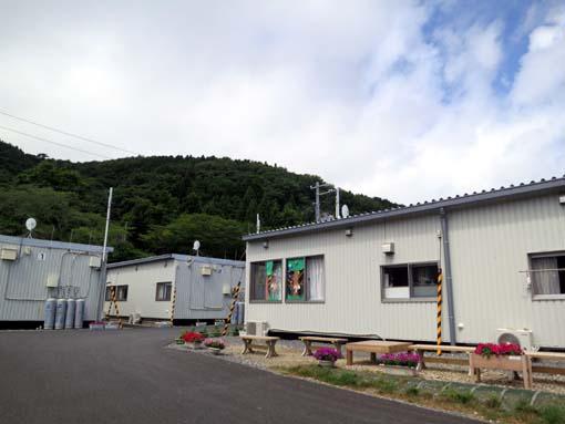 2012年 雄勝町 ボランティア活動 水浜仮設にて