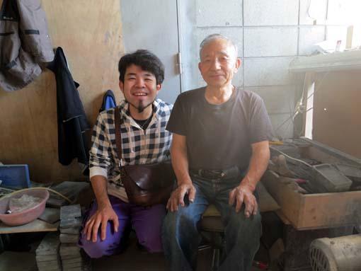 2012年 雄勝町 遠藤市雄さんと撮影