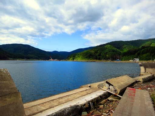 2013年 雄勝町内の写真 海沿いの道