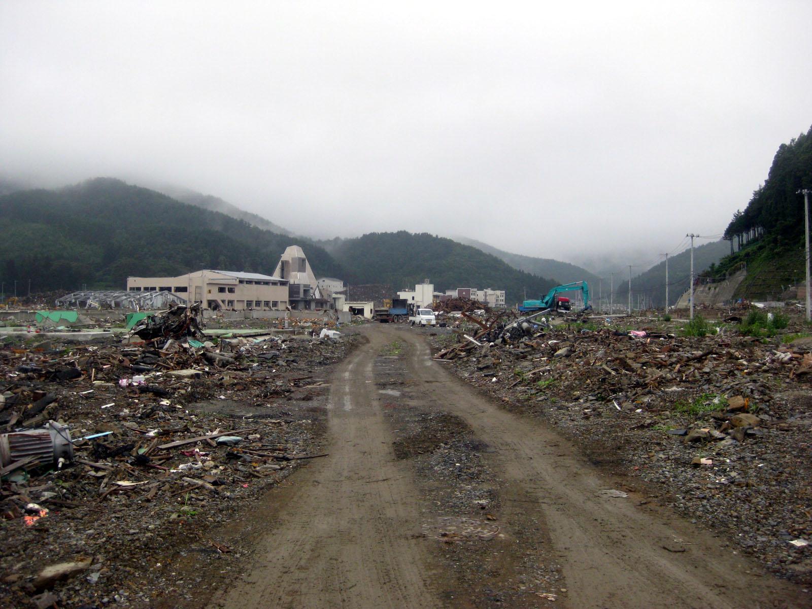 2008年8月 石巻市雄勝町の町並み1