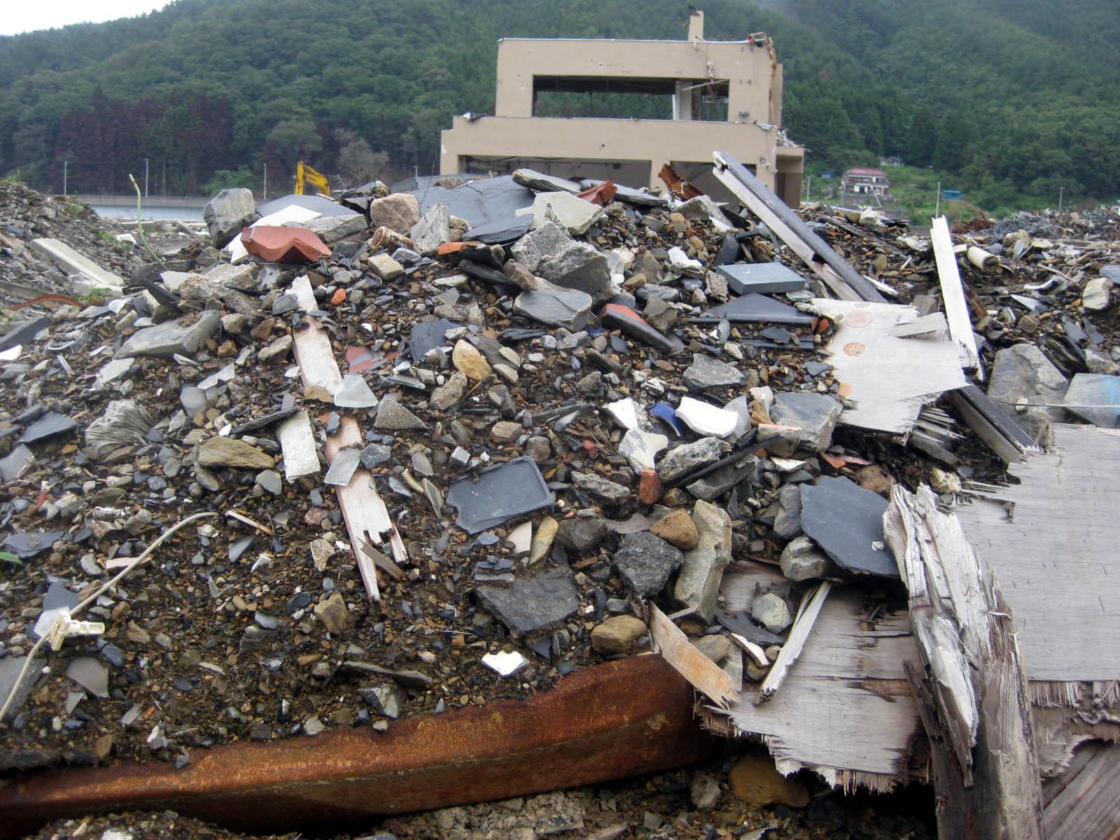 2008年8月 石巻市雄勝町の町並み3