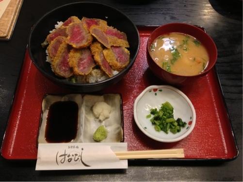 阿蘇神社 食事処「はなびし」・「あか牛カツ丼」