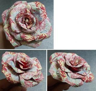 和紙の薔薇