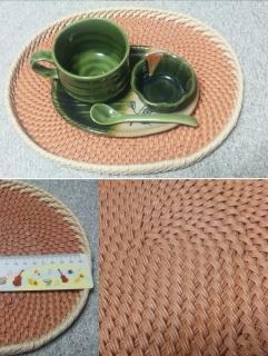 コイル編み、お盆