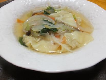 ワンタン野菜スープ