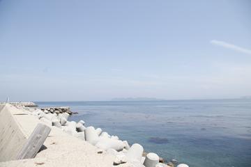 いわいじまの漁港、