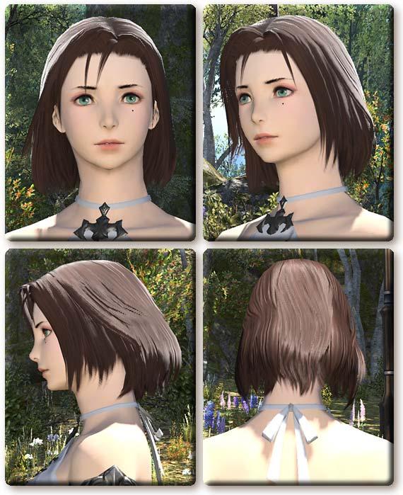 【FF14】ヒューラン女性(ミッドランダー)の髪型