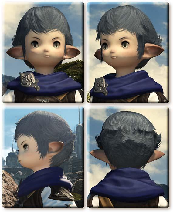 【FF14】ララフェル男性の髪型