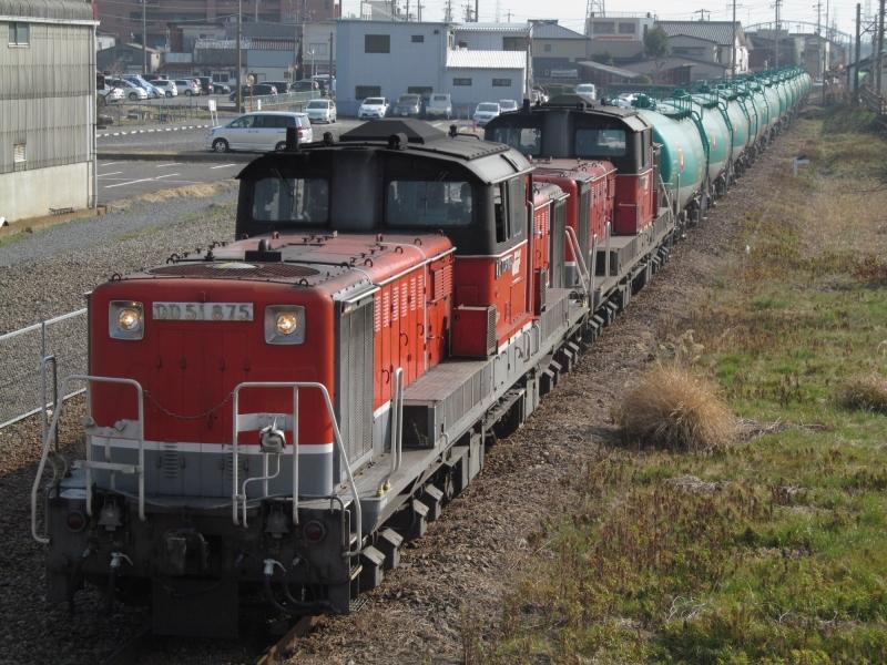 石川台の鉄活動日記-DD51重連タキ貨物 2