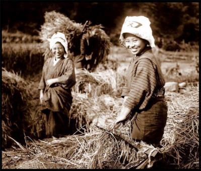 農業をする女性たちの笑顔