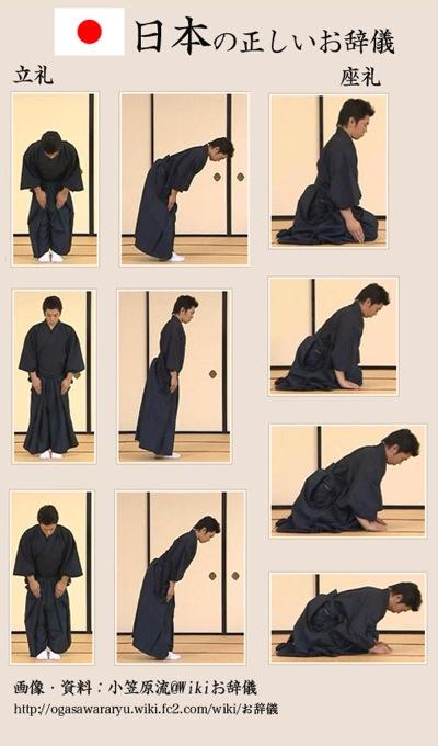 日本の正しいお辞儀