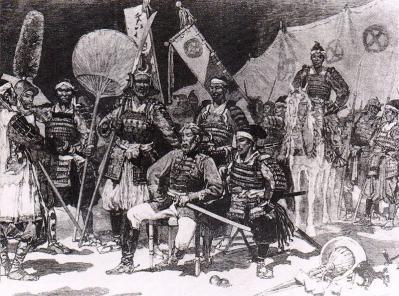 フランスのニュース紙に掲載された西郷隆盛1877年